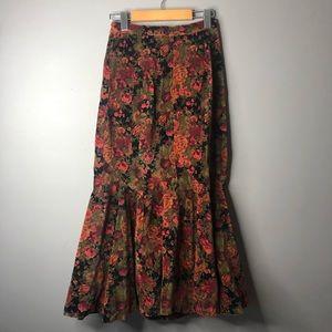 April cornell Amanda maxi skirt floral xs NWT